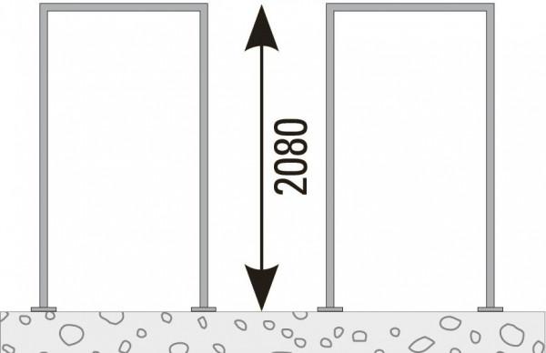 VETRO Pfosten-Zarge, V2A Achsmaß 105,5 mm zum Aufschrauben, DIN Rechts #85135