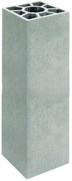 SHANGHAI-Serie Pfosten silbergrau 9 x 9 x 200 cm, WPC-Hohlkammerpfosten # KE135
