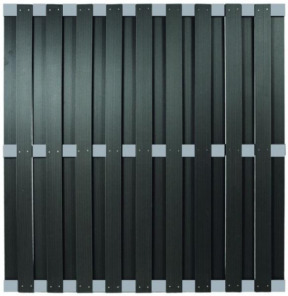 KANTON-Serie ALU/Anthrazit 180 x 180 cm, WPC-Bretterzaun # KE220