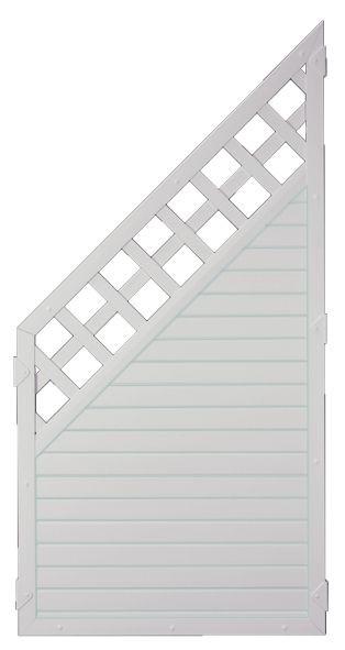 LIGHTLINE KS-Zaun Ranki ECKE 90 x 180/90 cm Füllung weiß / Rahmen weiß #PLK9018090