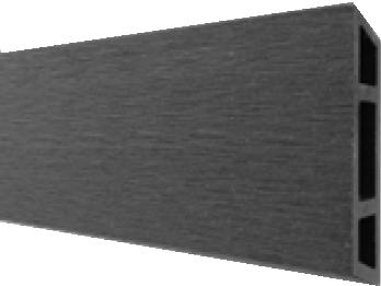 HANÖ-Serie ANTHRAZIT BPC-Rhombus-Steckzaun-Set 7 Lamellen 20 x 75/68 x 1793 mm