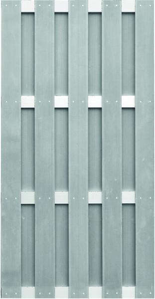 JINAN-Serie grau 90 x 180 cm, WPC-Bretterzaun Querriegel ALU anodisiert