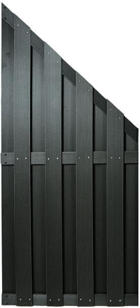 SHANGHAI-Serie ECKE anthrazit 90 x 180/90 cm, WPC-Bretterzaun #KE30