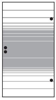 VETRO TÜR-Glasscheibe 987 x 1800 mm, DIN Rechts Streifen Dekor 83 SATINATO #68313