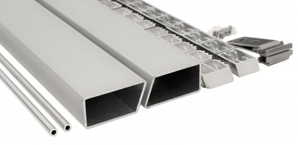HANÖ-Serie Montageset SILBER 20 x 75 x 1793 mm, inkl. Start- & Abschluss, Befestigung und Abstandhal