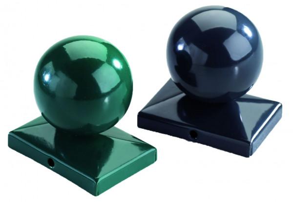 Kugel f. Doppelstabmatten RAL 6005 grün für Pfosten 60/40 mm
