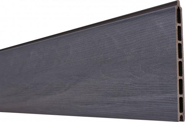 ÖLAND-Serie GREYSTONE (grau) Zaunlamelle 20 x 210 x 1793 mm coextrudiert Holzmaserung