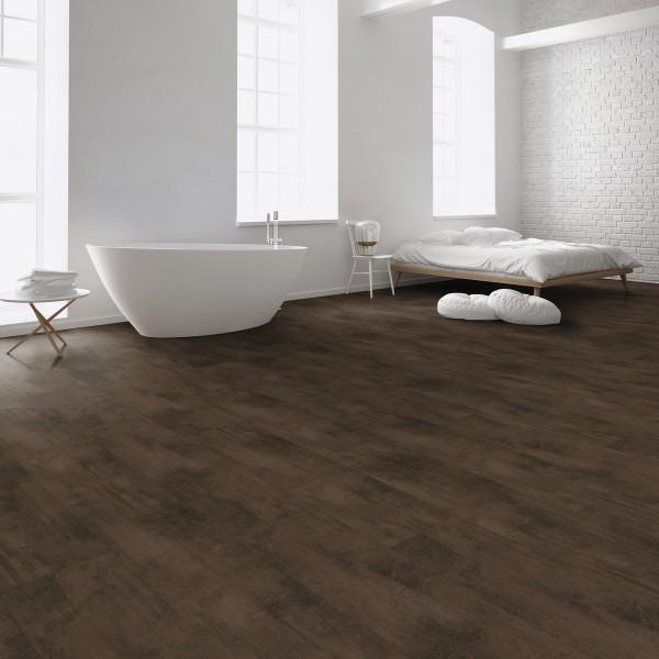Kaindl Aqua-Tech Boden 8.0 Fliese Metall Oxid Dark Brown