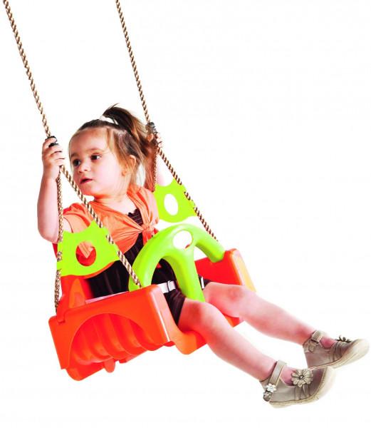 TRIX Kinderschaukelsitz aus Kunststoff, 3-teilig Seillänge ca. 190 cm