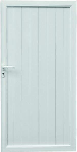 TRENDLINE-KS-Sichtschutz TOR 100 x 180 cm, weiß, DIN links inkl. Schloßfräsung