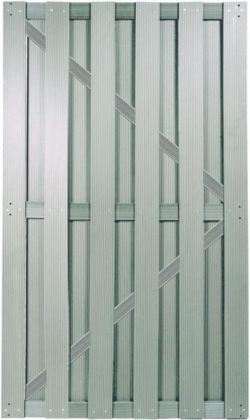 SHANGHAI-Serie TÜR silbergrau 90 x 180 cm, WPC-Brettertür inkl. Beschlagset, Schloß und Drücker