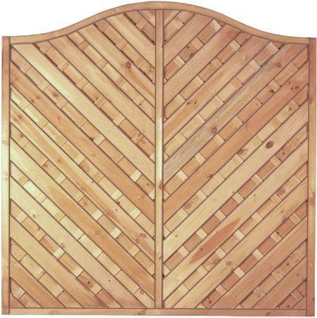 Maxi-Diagonal-Krone-Serie grün 180 x 180/160 cm Rahmen 45/45 mm, Lamellen geriffelt & geschraubt