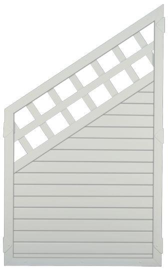 LIGHTLINE KS-Zaun Ranki ECKE 90 x 150/90 cm Füllung weiß / Rahmen weiß ##PLK9015090