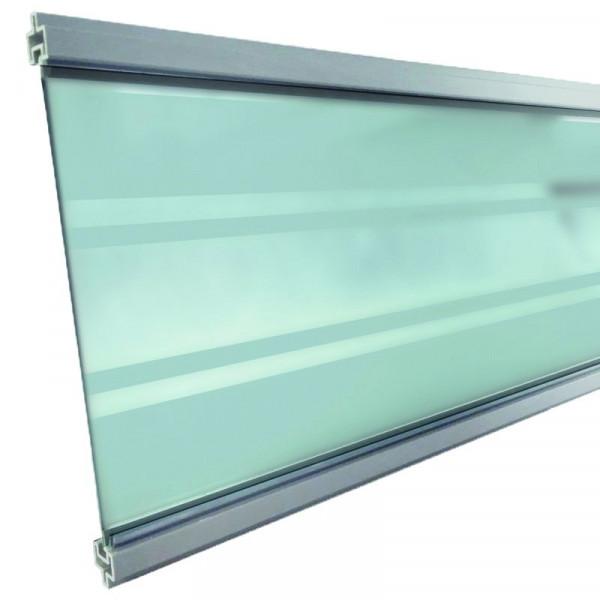 GOTLAND-Serie WPC-Steckzaunsystem Glasfüllung 6 x 206 x 1793 mm SILBER #NO90