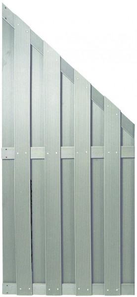 SHANGHAI-Serie ECKE silbergrau 90 x 180/90 cm, WPC-Bretterzaun # KE115
