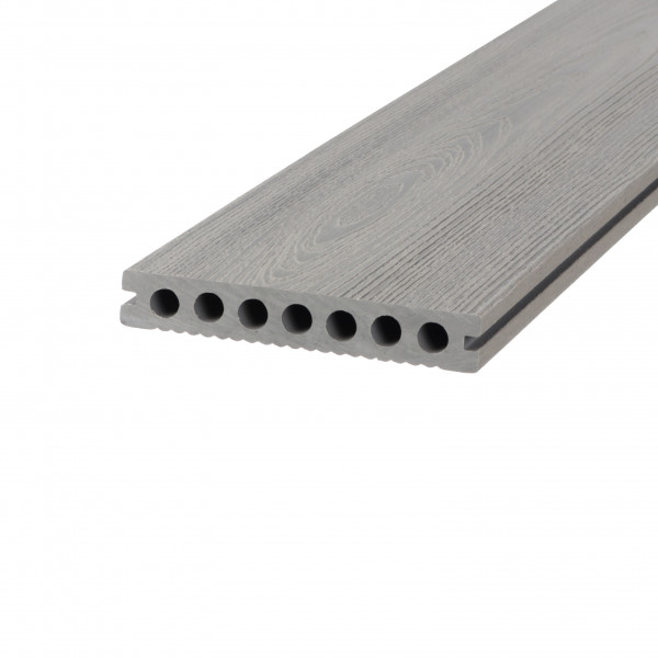 Dreamdeck WPC Plus Terrassendiele Relief-Holzmaserung/fein geriffelt grau 400 cm