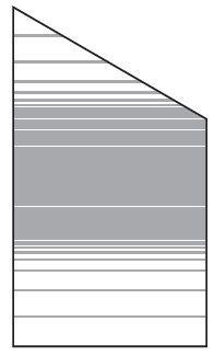 VETRO Glasscheibe ECKE rechts B 1030 x H 1800/1200 mm Streifen-Dekor 83, SATINATO #68309