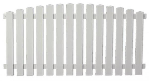 LIGHTLINE Vorgarten Hochbogen, weiß 180 x 80/90 cm