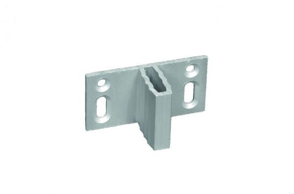 Zaunhalter für WPC-Zäune für verdeckte Befestigung Set á 8 Stück, ALU-anodisiert #08090013
