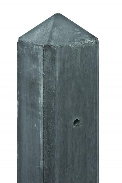 TANTUM-Serie Diamantkopfpfosten 10 x 10 x 280 cm, anthrazit Endpfosten f. Beton/Holz # 1.53280E