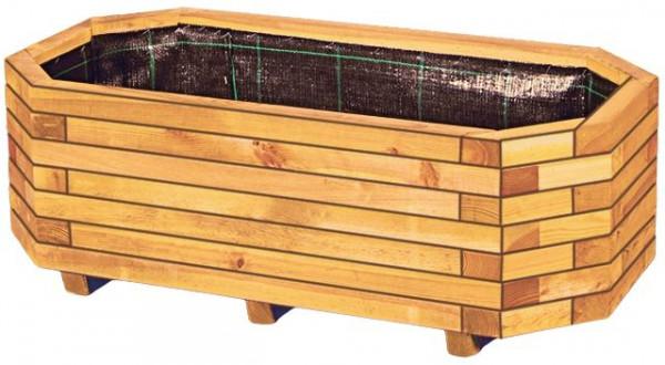 KÄTHE Blumenkübel B 100 x T 50 x H 35 cm, 8-eck KH 45/45 mm, inkl. Folieneinsatz
