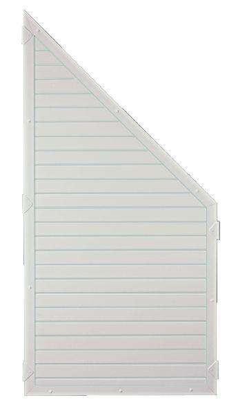 LIGHTLINE KS-Zaunelement ECKE 90 x 180/90 cm Füllung weiß / Rahmen weiß