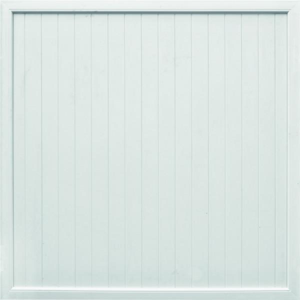 TRENDLINE-KS-Sichtschutz 180 x 180 cm, weiß Rahmen 50/70 mm, Füllung 17/200 mm
