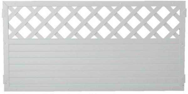 LIGHTLINE KS-Zaun Ranki 180 x 90 cm Füllung weiß / Rahmen weiß #PLK18090