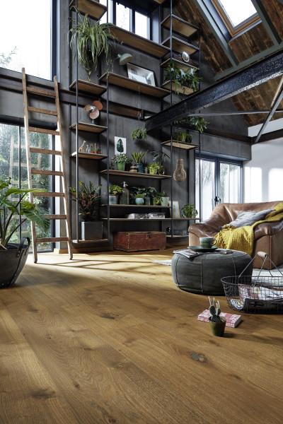 MeisterParkett Lindura HD400 Landhausdiele Eiche Dry Wood 8748 authentic gebürstet naturgeö
