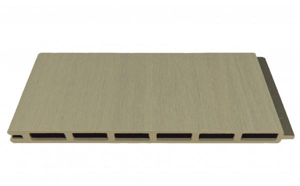 ELZE-Serie WPC-Steckzaunsystem Zaunlamelle BREIT 20 x 300 x 1790 mm, SCHILF co-extrudiert