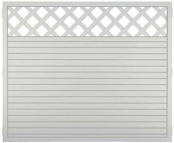 LIGHTLINE KS-Zaun Ranki 180 x 150 cm Füllung weiß / Rahmen weiß #PLK180150