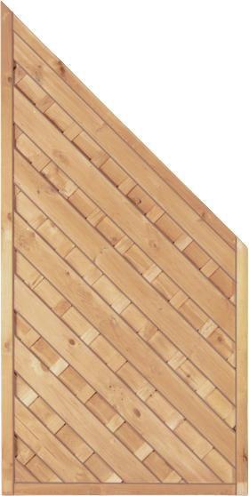 Maxi-Diagonal-Serie Ecke grün 90 x 180/90 cm Rahmen 45/45 mm, Lamellen ger. & geschr.
