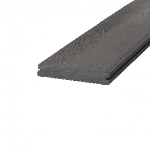 Dreamdeck WPC BiColor Terrassendiele Relief-Holzmaserung/fein geriffelt anthrazit 300 cm