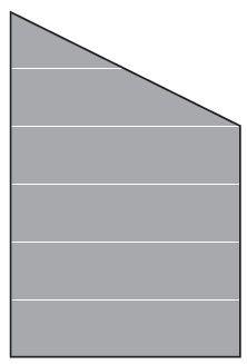 VETRO Glasscheibe ECKE rechts B 1200 x H 1800/1200 mm Streifen-Dekor 82, SATINATO #68211