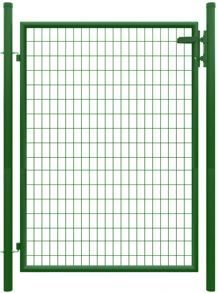 STRONG Einzeltor RAL 6005 GRÜN 1250 x 1700 mm inkl. Pfosten + Beschlägen, MW 50/100 mm 2 Torpfoste