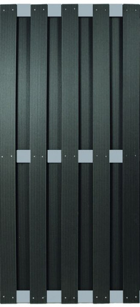 KANTON-Serie ALU/Anthrazit 90 x 180 cm, WPC-Bretterzaun # KE225
