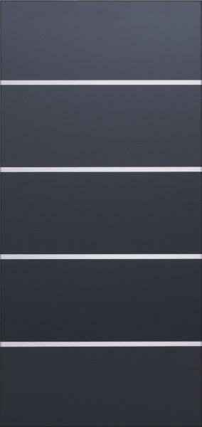 FARÖ-Serie HPL-Steckzaunsystem Torfüllung ANTHRAZIT, 5 Lamellen 6 x 329 mm, ohne Aluleisten