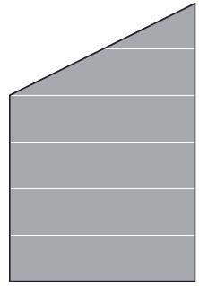 VETRO Glasscheibe ECKE links B 1200 x H 1200/1800 mm Streifen-Dekor 82, SATINATO #68210