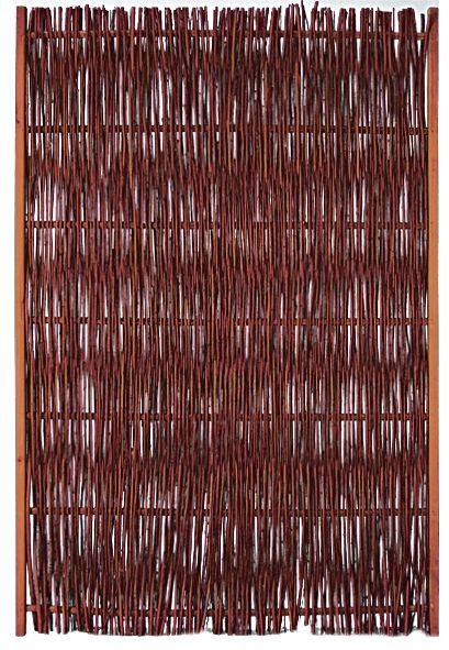 FUEGO Weidengeflechtzaun m.seitl. Rahmen 120 x 180 cm