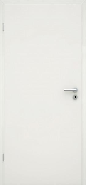 Glatte Tür, Designkante, Weißlack 1.0, Röhrenspanplatte, BB, V0020 ohne Zarge