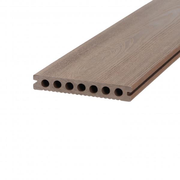 Dreamdeck WPC Plus Terrassendiele Relief-Holzmaserung/fein geriffelt braun