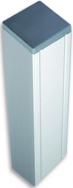 KANTON/SHANGHAI-Serie Pfosten 88 x 88 x 2720 mm, ALU-Silber mit Kern & Kappe # KA140