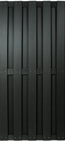 SHANGHAI-Serie anthrazit 90 x 180 cm, WPC-Bretterzaun #KE25