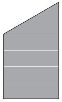 VETRO Glasscheibe ECKE links B 1030 x H 1200/1800 mm Streifen-Dekor 82, SATINATO #46617