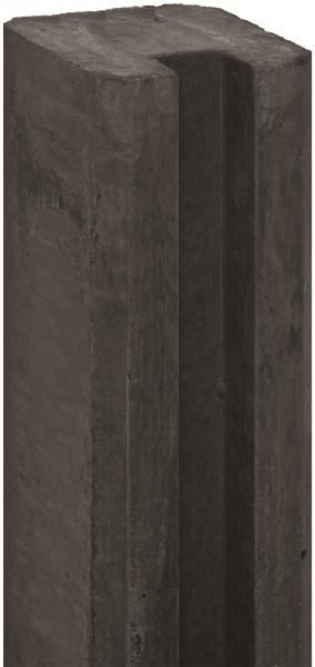 REBUS-Serie Schlitzpfosten 11,5 x 11,5 x 280 cm, anthrazit Endpfosten f. Beton # 1.57280E