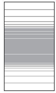 VETRO Glasscheibe B 1030 x H 1800 mm Streifen-Dekor 83, SATINATO #68305