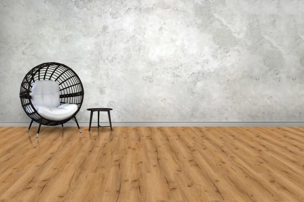 Hardboard-Designboden Eiche Nachbildung inkl. Trittschalldämmung #60205