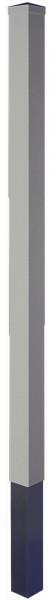 LIGHTLINE KS Pfosten SILBERGRAU 9 x 9 x 150 cm zum einbetonieren inkl. Pfostenkappe (extra packen)