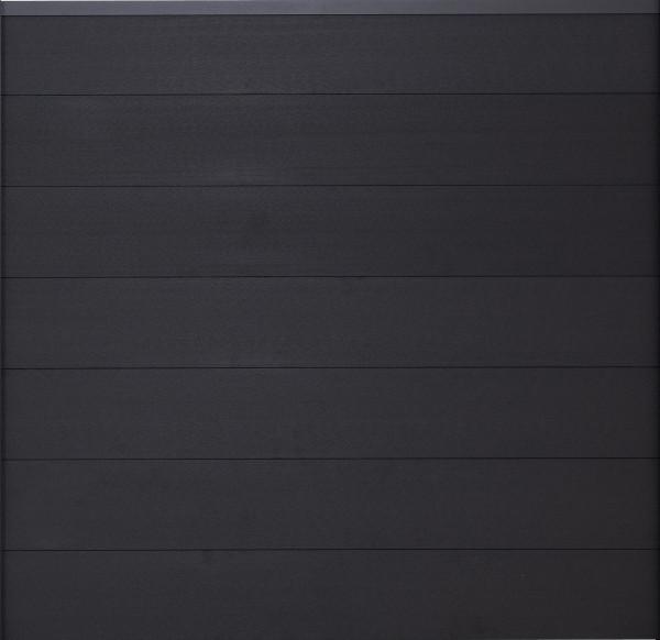 TJÖRN-Serie WPC-Steckzaunsystem Zaunset für ein Zaunfeld 180 x 175 cm ANTHRAZIT / ANTHRAZIT, kartonv