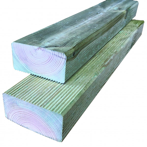 Konstruktionsholz grün 45 x 90 x 3000 mm einseitig geriffelt
